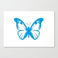 Large blue butterfly Canvas Print