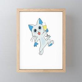 Cat Kitten Wasted Funny Cat Lover Drinking Framed Mini Art Print