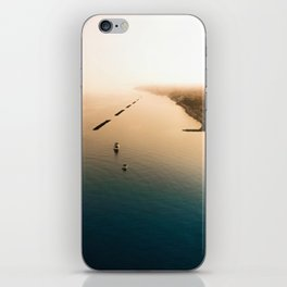 Dust over the city iPhone Skin
