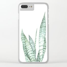 Watercolor botanical print Clear iPhone Case