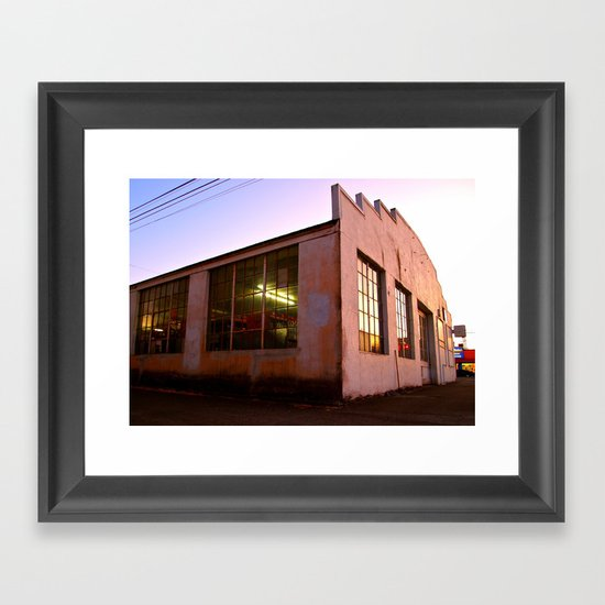 Auto Garage Framed Art Print