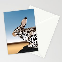 Rabbit Guepard Pattern Stationery Cards