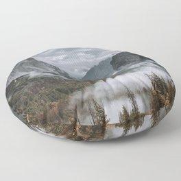 Misty Tunnel View Floor Pillow