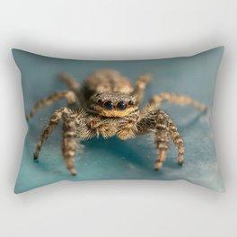 Small jumping spider Rectangular Pillow