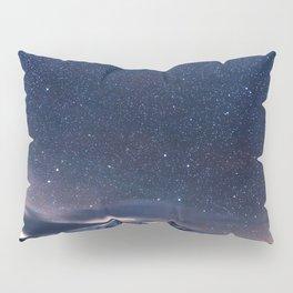 Starry Night Sky Winter Mountain Pillow Sham