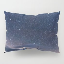 Starry Night Sky Winter Mountain Pillow Sham
