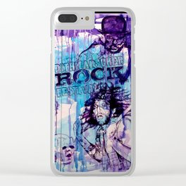 ROCK - with WARNER DRIVE Clear iPhone Case