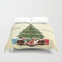 christmas tree Duvet Covers featuring Christmas Tree by haroulita