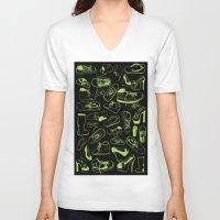 shoes V-neck T-shirts featuring SHOES by Slaney Hopkins Illustration