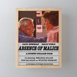 Absence of Malice Framed Mini Art Print
