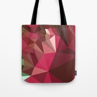 jazzberry Tote Bags featuring Jazzberry Jam Purple Abstract Low Polygon Background by patrimonio
