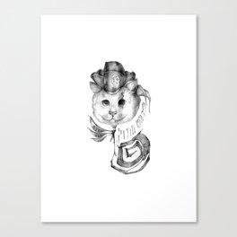 P1R4T3 C4T (Pirate Cat) Canvas Print