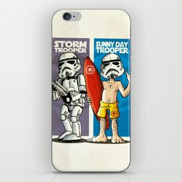 Storm and Sunny Day Trooper iPhone Skin