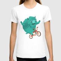 buffalo T-shirts featuring Bicycle Buffalo by Chase Kunz