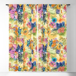 Maximalist Max in the Flowers Blackout Curtain