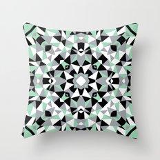 Abstract Kaleidoscope Mint Throw Pillow