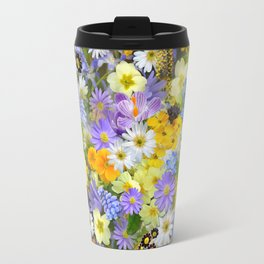 Spring flower collage Travel Mug