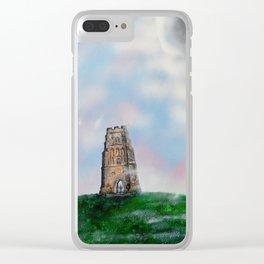 Glastonbury Tor 3 Clear iPhone Case