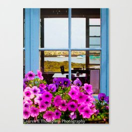 Floral Lunch View Canvas Print