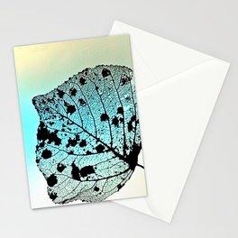 Weathered Poplar Leaf, Skeleton leaf Stationery Cards