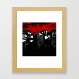 Old Buildings in Belgrade Framed Art Print