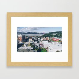 View of The City from above my Friends Apartment Framed Art Print