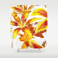 lily Shower Curtains featuring Lily by ANoelleJay