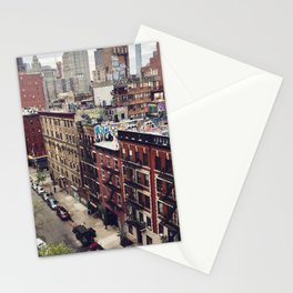 New York street views - Chinatown from Manhattan bridge Stationery Cards