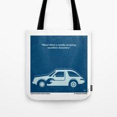 No211 My Waynes World minimal movie poster Tote Bag