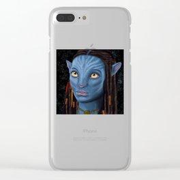 Avatar Eyes Clear iPhone Case