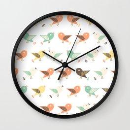 Assorted birds pattern Wall Clock
