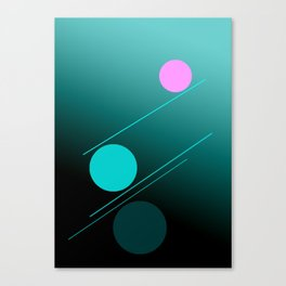 The 3 dots, power game 13 Canvas Print