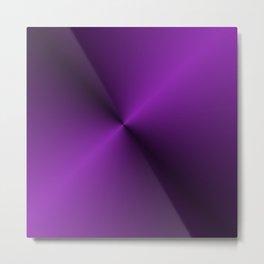 Black and Vibrant Purple Gradient Pattern Metal Print