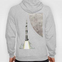Apollo Rocket Launch to the Moon Hoody