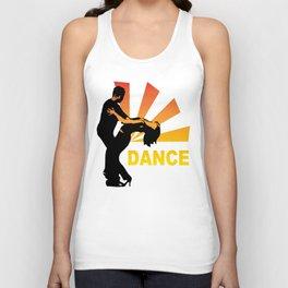 dancing couple silhouette - brazilian zouk Unisex Tank Top