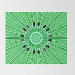 Digital art kiwi Throw Blanket