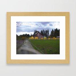 Fall Barn Framed Art Print