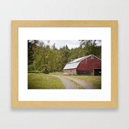 Centralia Barn  Framed Art Print