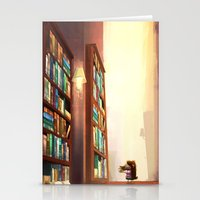 library Stationery Cards featuring Library by Stephanie Dominguez Art Shop