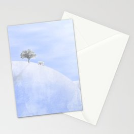 The polar bear and the tree Stationery Cards