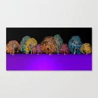 colors and trees Canvas Print
