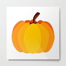 Orange Pumpkin Metal Print