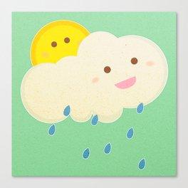 Raining day Canvas Print