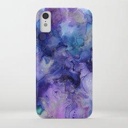 Abstract Watercolor Coastal, Indigo, Blue, Purple iPhone Case