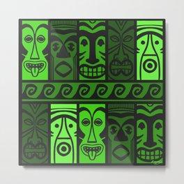 Jungle Green Tikis! Metal Print