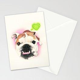 English Bulldog - F.I.P. - @LucyFarted Stationery Cards