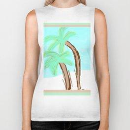 Palm Trees Awaiting a Storm #4 Biker Tank