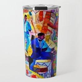 African-American 'The Spirit of Harlem' Historical Mural Portrait Travel Mug