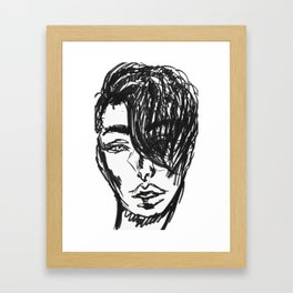 Hair Model Framed Art Print