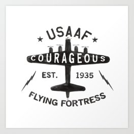 B17 Bomber Courageous Print Art Print